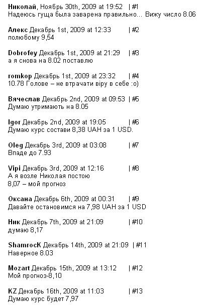 список участников конкурса