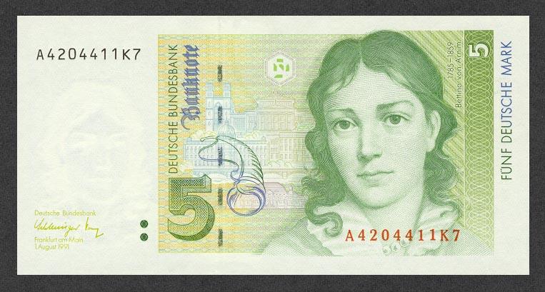 5 немецких марок