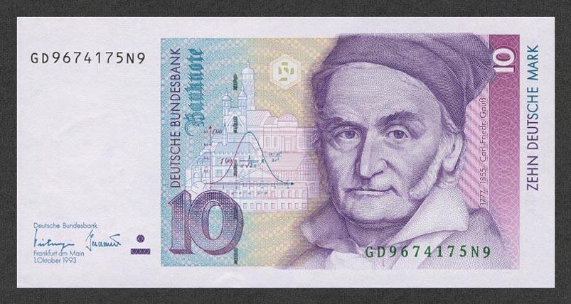 10 немецких марок