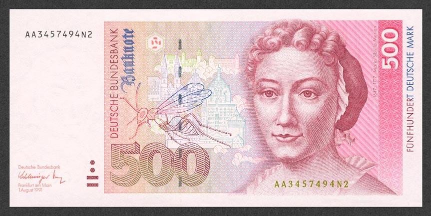 500 немецких марок