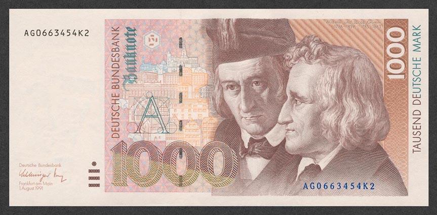 1000 немецких марок