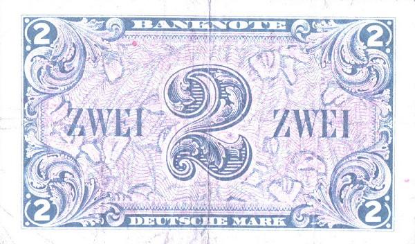 2 марки фрг 1948