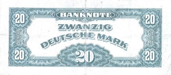 20 марок фрг 1948