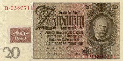 20 марок гдр 1948