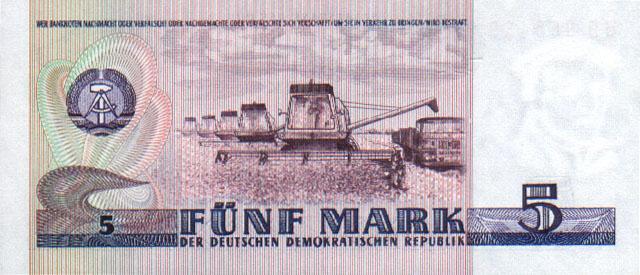 5 марок ГДР 1989