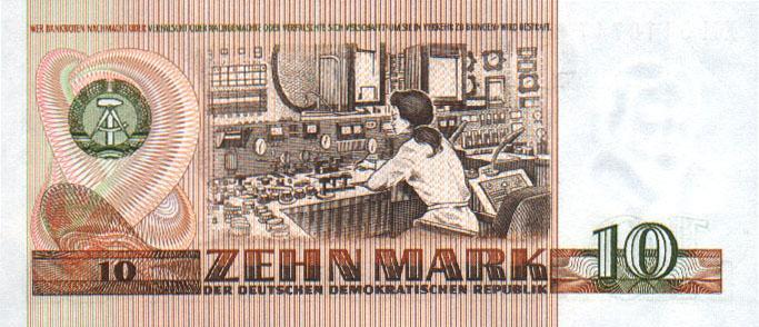 10 марок ГДР 1989