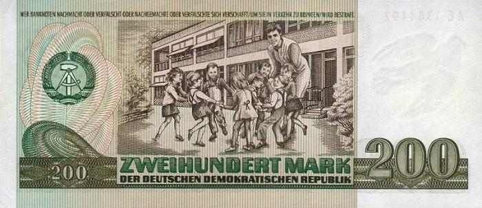 200 марок ГДР 1989