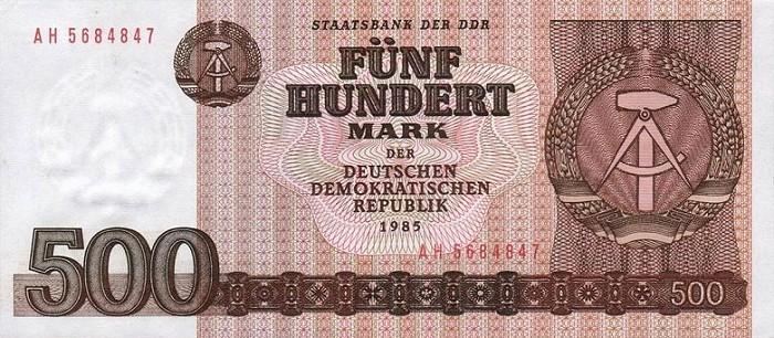 500 марок ГДР 1989