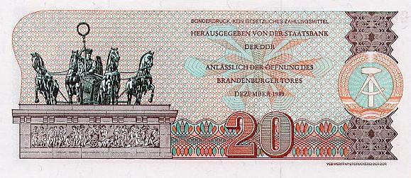 20 марок ГДР 1989