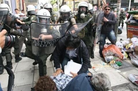 митинги в Греции