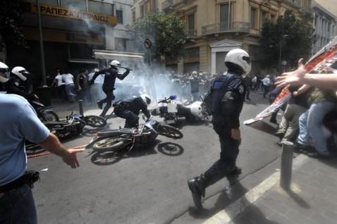 акции протеста в Греции