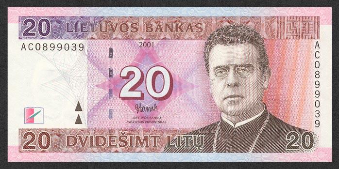 20 литовских литов