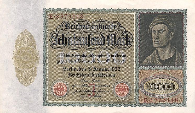10000 немецкая марка 1922 года