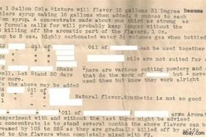 Найден «Cекретный рецепт» Coca-Cola