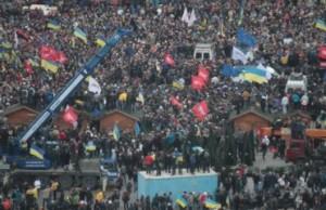 В Киеве тысячи людей спели в метро гимн Украины: Видео