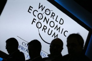 Participants attend a session during the annual World Economic Forum meeting in Davos