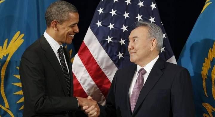 Обама и Назарбаев