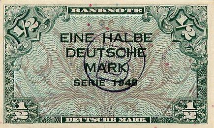 1/2 марки ФРГ 1948