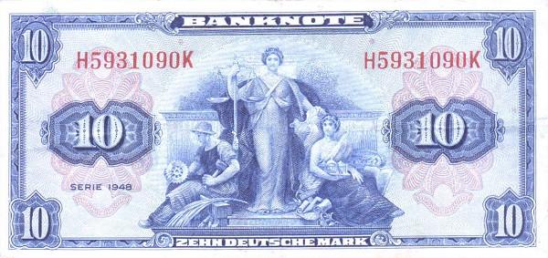 10 марок фрг 1948