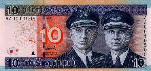 10 литовских литов