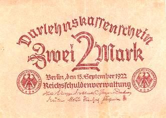 немецкая марка 1922 года