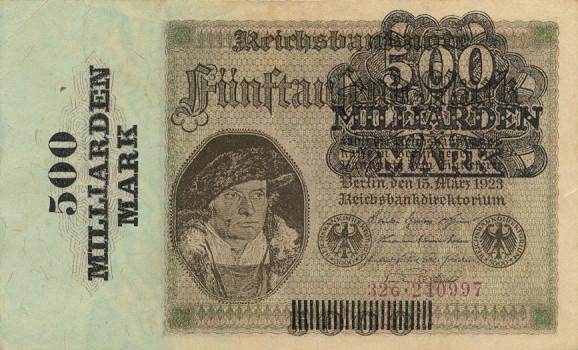 Немецкая марка времен гиперинфляции
