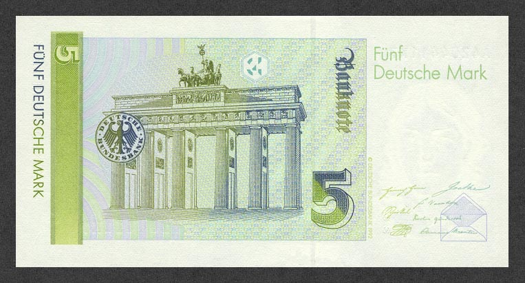 Марка ФРГ 1991. Деньги объединенной Германии