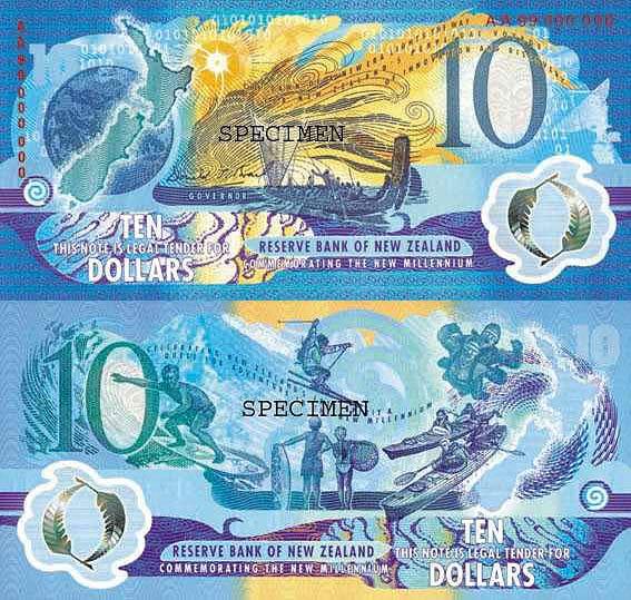 Новая Зеландия, 10 новозеландских долларов