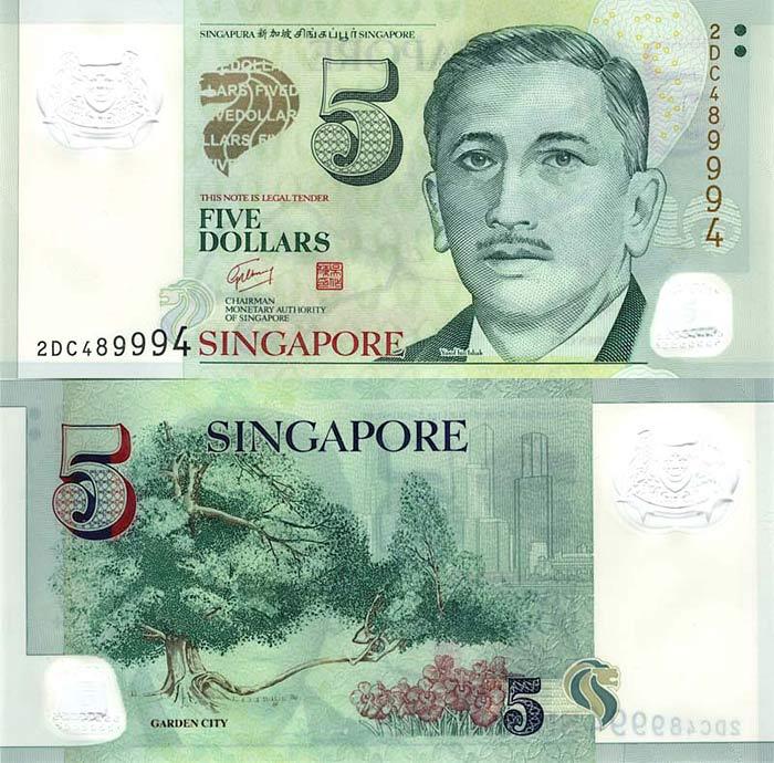 Сингапур, 5 сингапурских долларов