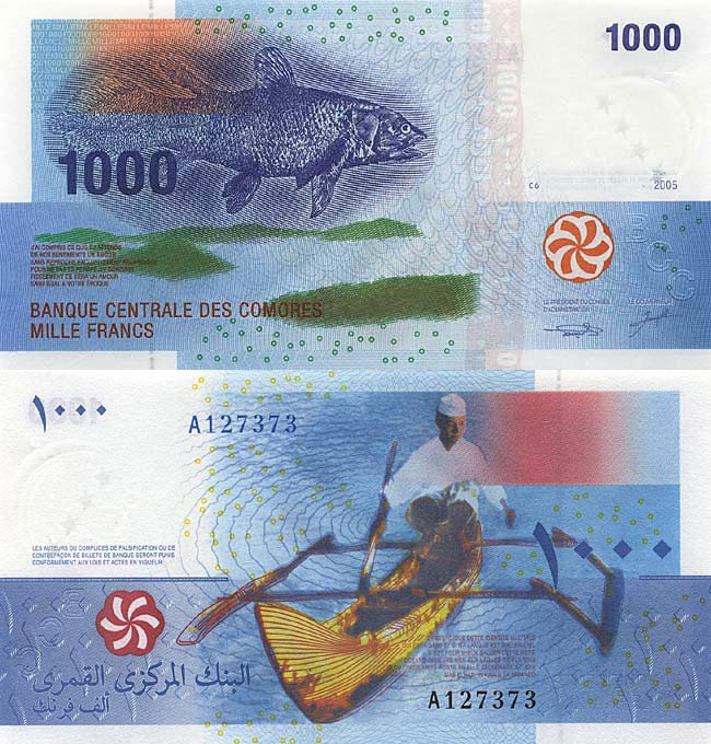 Коморские острова, 1000 коморских франков