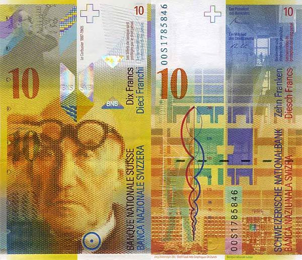 Швейцария, 10 швейцарских франков