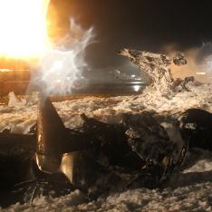 В сети опубликовано видео крушения Boeing-737 в Казани