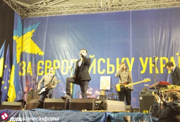 Концерт «Океана Ельзи» на Майдане собрал 200 тысяч зрителей