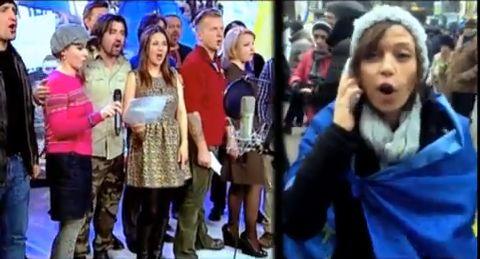 Украинские музыканты записали гимн Евромайдана