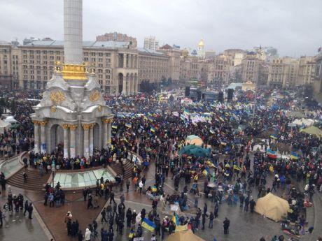 В Киеве на Майдане собрался масштабный «Марш миллиона»