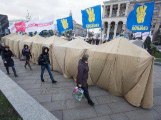 Женщину изнасиловали в палаточном городке Евромайдана