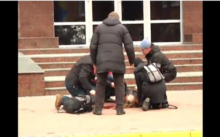 Во время штурма Хмельницкой СБУ застрелили человека