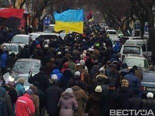 В Луганской области разогнали митинг за единую Украину