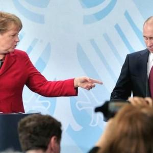 Ангела Меркель и Путин В.В.