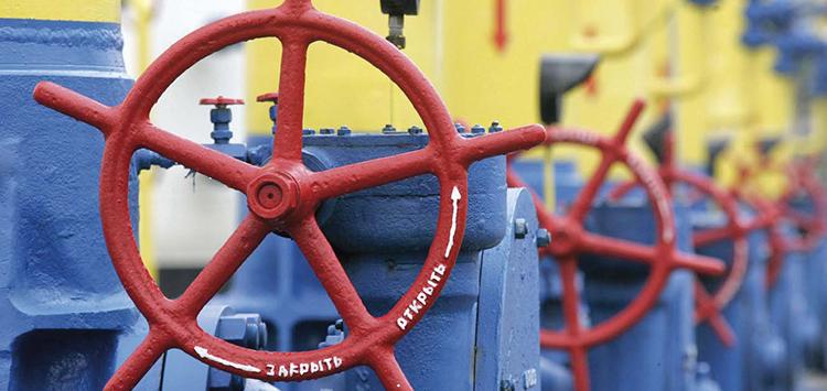 В украинских газохранилищах находится меньше половины от нужного количества топлива