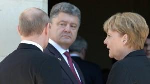 Меркель, Порошенко, Путин