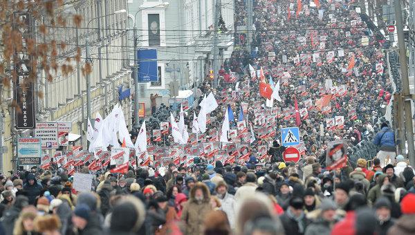 Российская оппозиция намерена устроить шествие по Москве