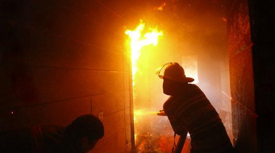 На севере Москвы большой пожар