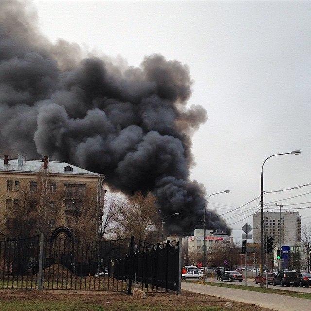 пожар в москве 22.04.2015
