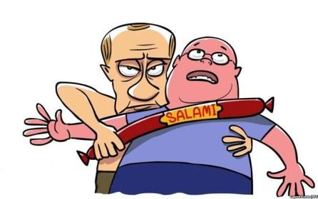Как Россия уничтожает санкционные продукты. Видео