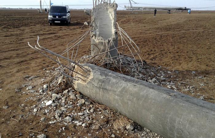 Одна из крымских опор уже восстановлена