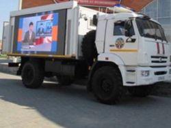 Пятиминутки ненависти: В Крым завезли передвижные телевизоры