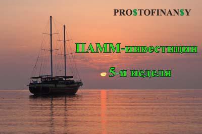 ПАММ-инвестиции Простофинансы (отчет 5й недели)