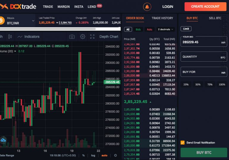 Индийская криптобиржа CoinDCX запустила приложение для торговли биткоином