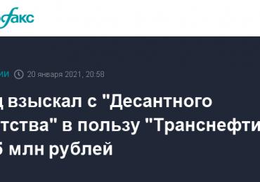 """Суд взыскал с """"Десантного братства"""" в пользу """"Транснефти"""" 10,5 млн рублей"""